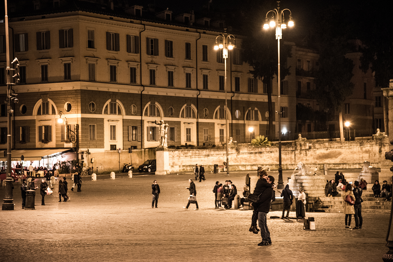 小林直行 カメラマン/写真 ポポロ広場にて / イタリア ローマ