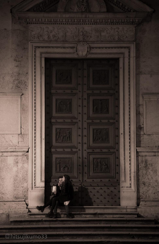 ポポロ広場にて / イタリア ローマ